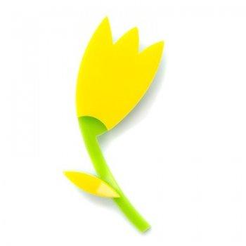 Брошь Тюльпан желтый