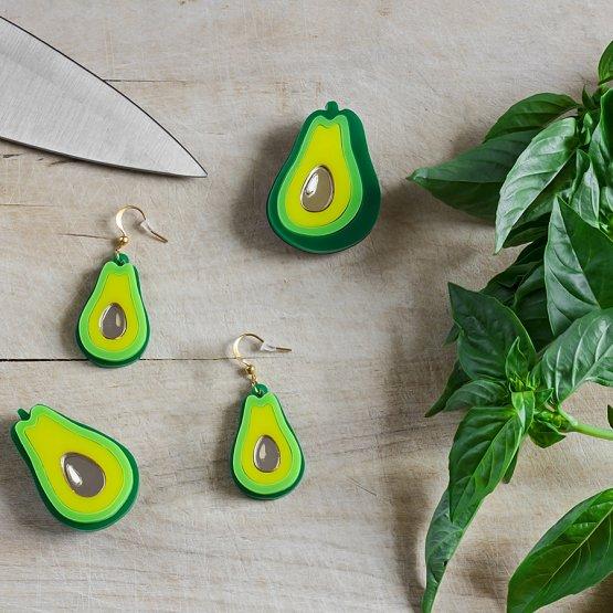 Брошь Авокадо развернутая