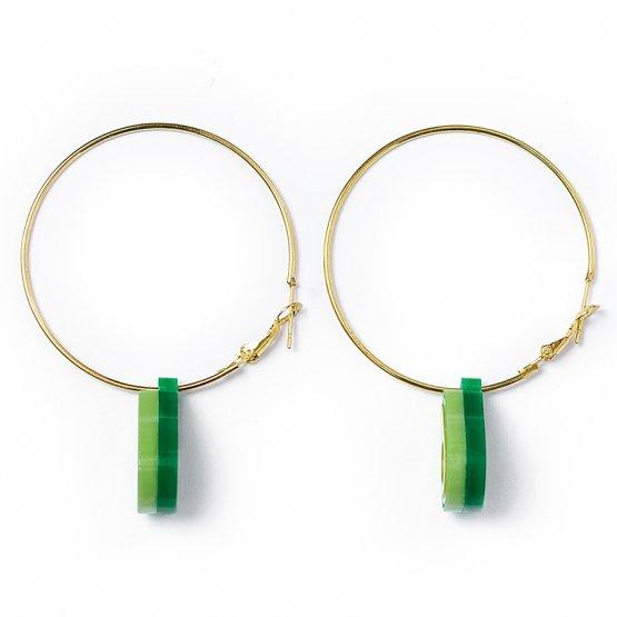 Серьги-кольца Авокадо