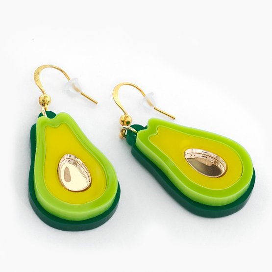 Серьги Авокадо