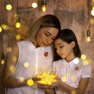 Комплект для мамы и дочки Спящие лисички