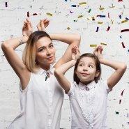 Комплект для мамы и дочки Снегири