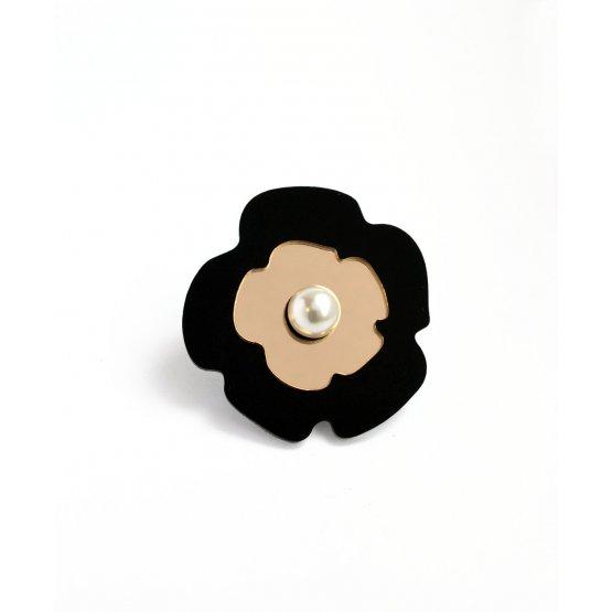 Брошь Black flower