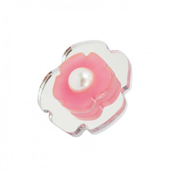 Брошь Pink flower