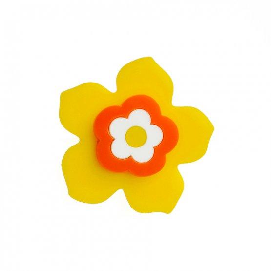 Брошь Цветок желтый