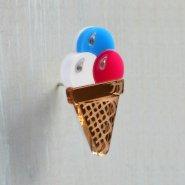 Брошь 3 шарика мороженого