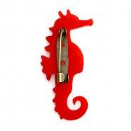 Брошь Hippocampus красная