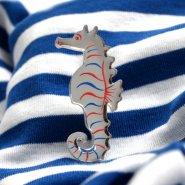 Брошь Hippocampus полосатая