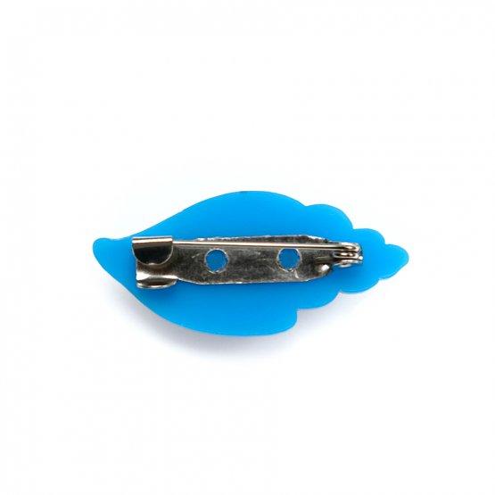 Брошь Volutidae голубая