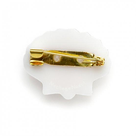 Брошь Pectinidae серебро/золото
