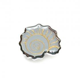Брошь Nautilidae серебро/золото