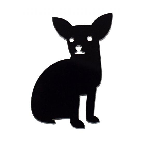 Брошь Чихуа-хуа черная