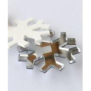 Брошь снежинка серебро