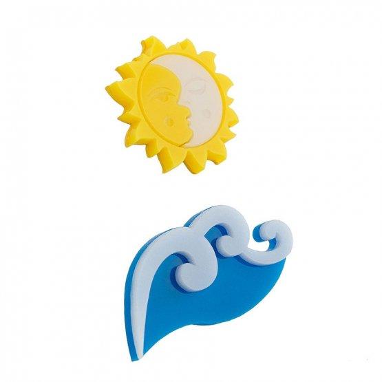 """Набор брошей """"Волна и солнце. День"""""""