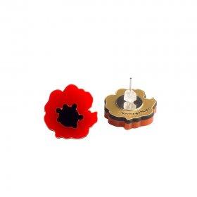 Серьги-гвоздики Poppy Flower