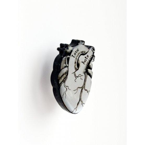 Брошь Серебряное Сердце мини