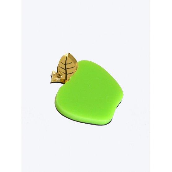 Брошь Яблочко зеленое