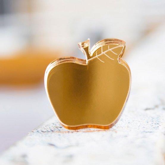 Брошь Яблочко (золото)