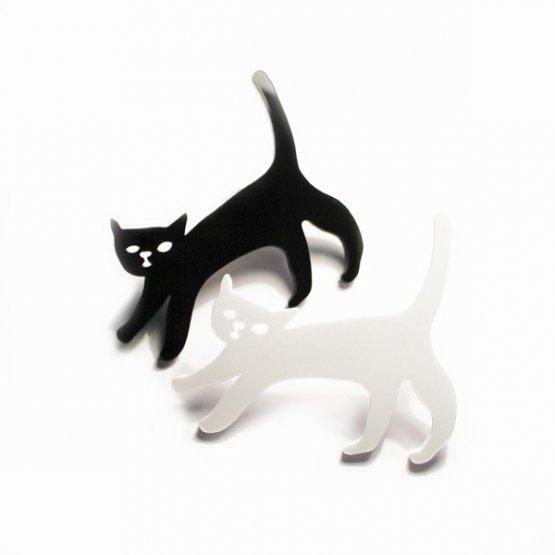 Брошь Кошка черная