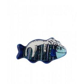 Брошь Кот на Рыбе