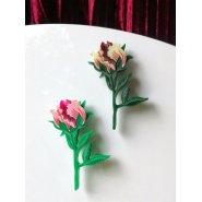 Брошь Бутон розовый