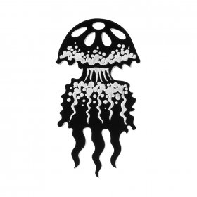 Брошь Graphic Jellyfish Black