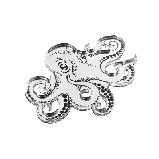 Брошь Octopus Silver
