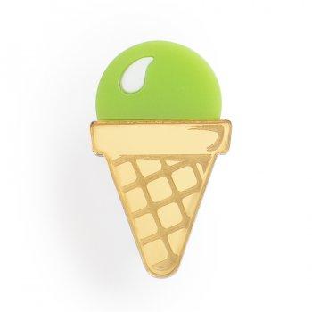 Брошь Мороженое фисташковое