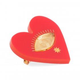 Брошь Heart Red