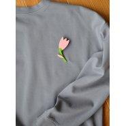 Брошь Тюльпан роза