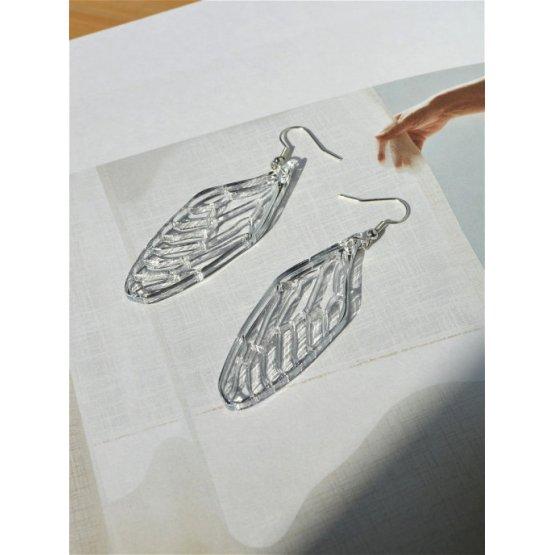 Серьги зеркальные крылья