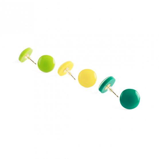 Набор из трех  цветов на выбор Серьги-гвоздики Color Splash