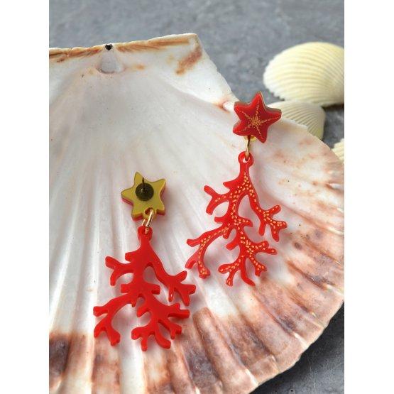 Серьги Кораллы