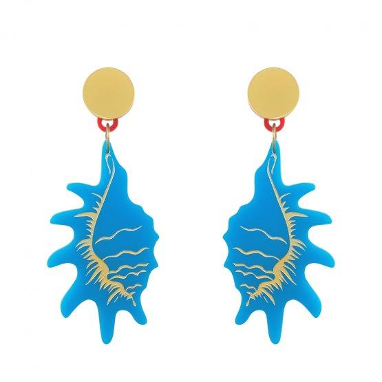 Серьги Strombidae Blue