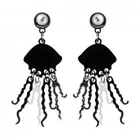 Серьги Graphic Jellyfish BlackGl