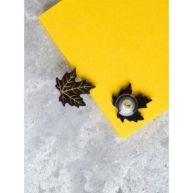 Серьги-гвоздики клены Black