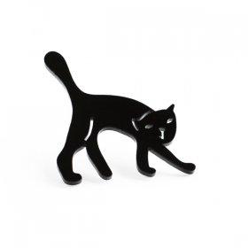 Брошь Кот черный