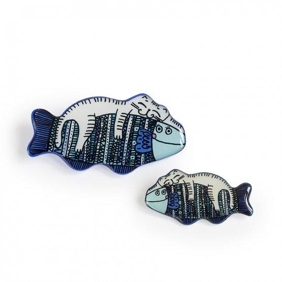 Комплект для мамы и дочки Кот на рыбке