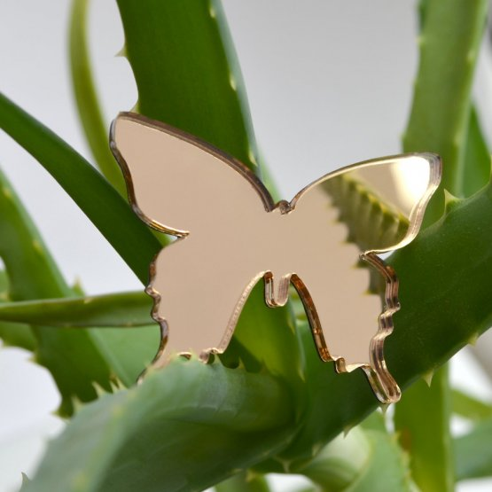 Брошь Бабочка золотая
