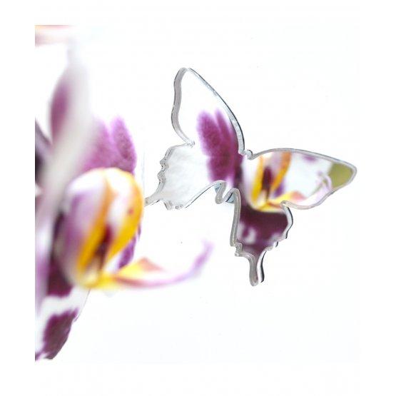 Брошь Бабочка серебряная