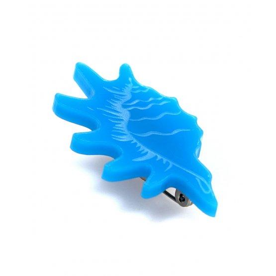 Брошь Strombidae голубая