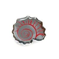 Брошь Nautilidae серебро/коралл