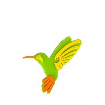 Брошь Колибри цветная