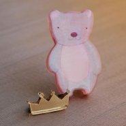 Брошь Королевский Мишка