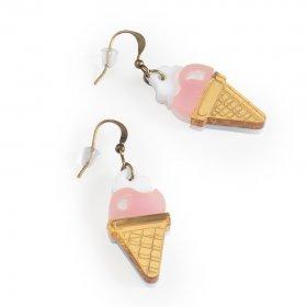 Серьги Мороженое со сливками