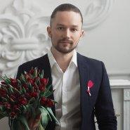 Брошь Тюльпан розовый