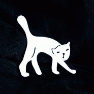 Брошь Кот белый