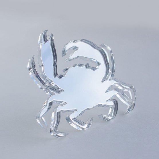 Брошь Краб (серебро)