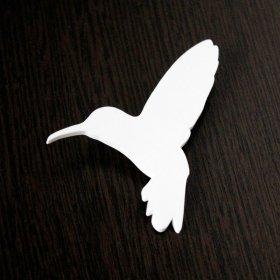 Брошь Колибри белая